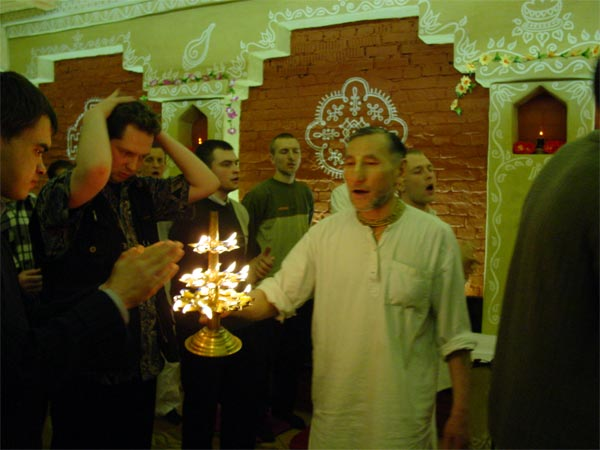 sanctified fire was offered to all devotees and guests