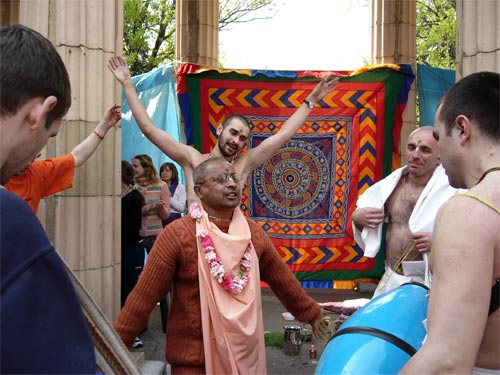 And, of course, harinama sankirtan led by Sripad Bhagavat